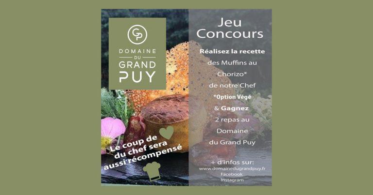 Jeu concours Muffin Domaine du Grand Puy