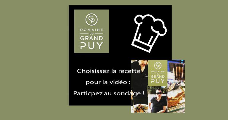 Sondage recette Domaine Du Grand Puy